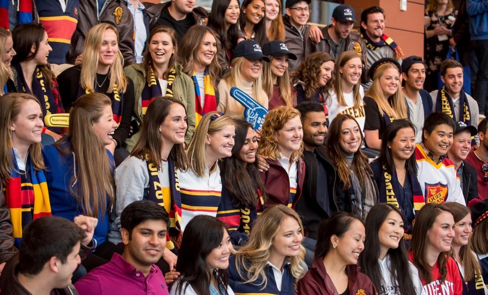 group of students at homecoming